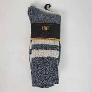 FRYE supersoft 2 pack boot socks NWT blue gray